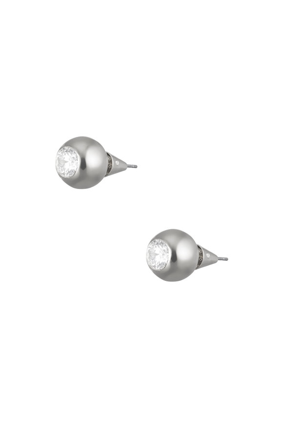 Eddie Borgo Silver Plated Cubic Zirconia Voyager Studs