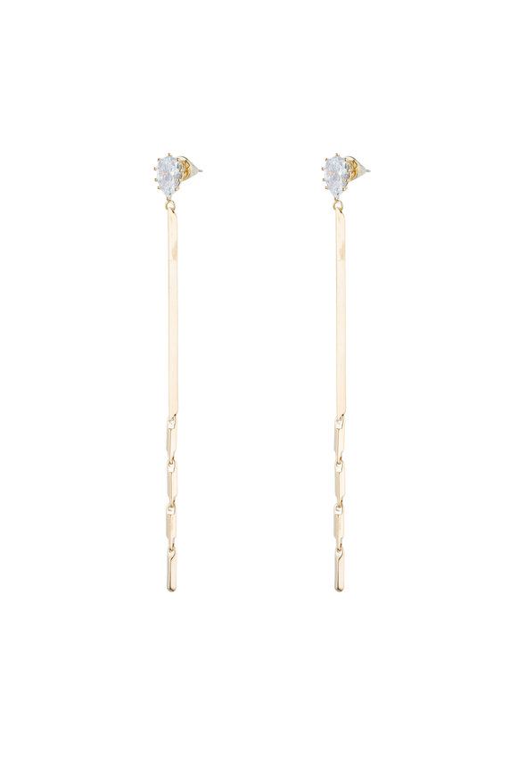 Eddie Borgo Yellow Gold Plated Long Glint Earrings