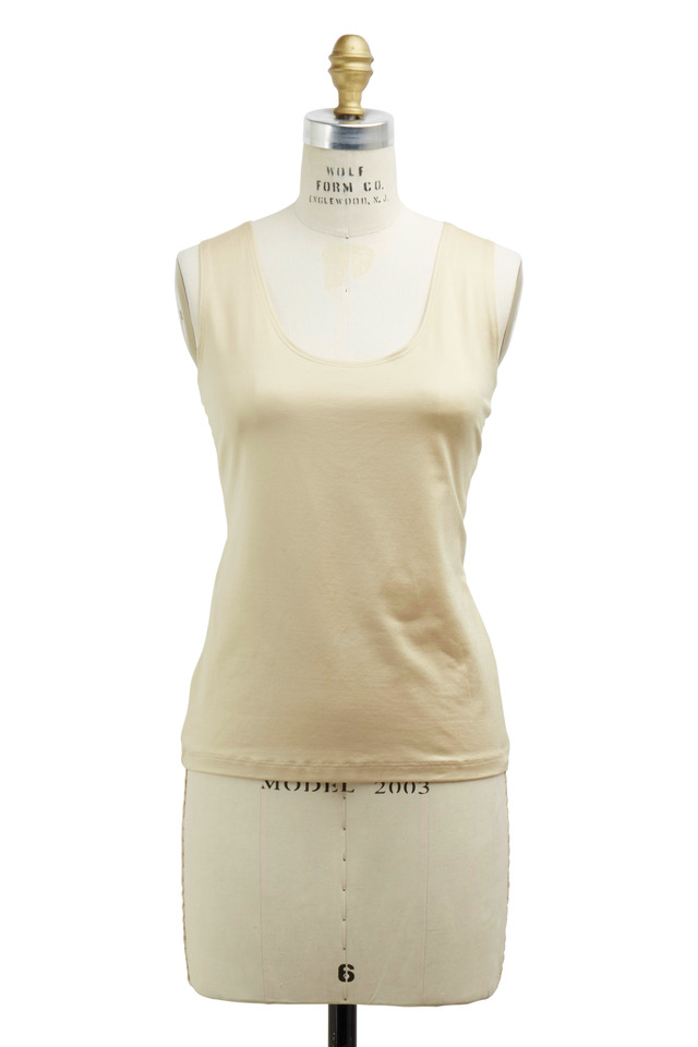 Gold Tactel & Lycra Tank Top