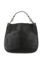 Bottega Veneta - Black Intrecciato Links Hobo Bag