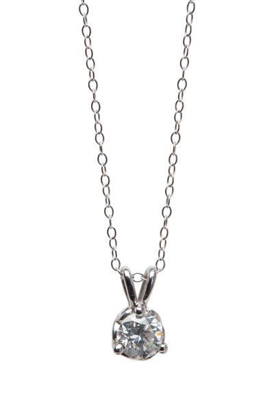 Louis Newman - White Gold Diamond Pendant Necklace