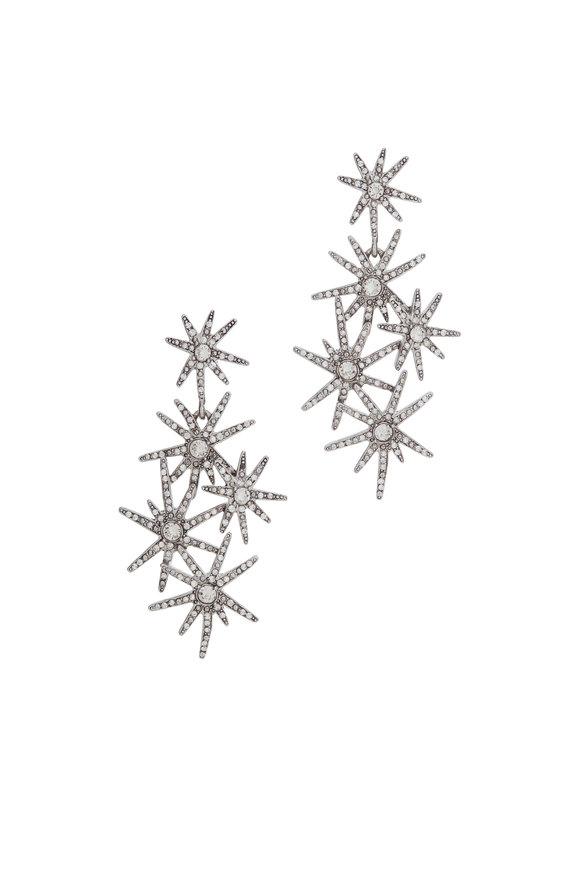 Oscar de la Renta Crystal Firework Earrings