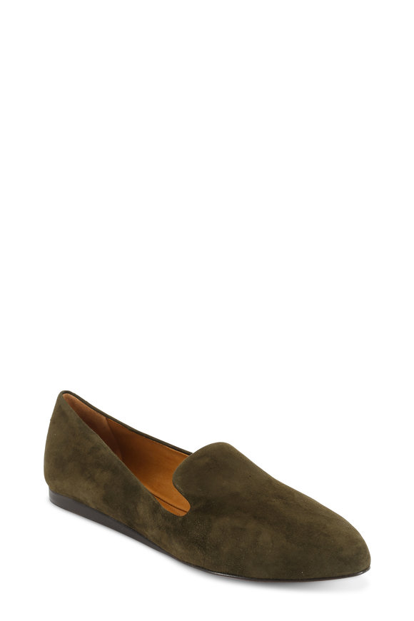 Veronica Beard Griffin Army Suede Slipper Flat