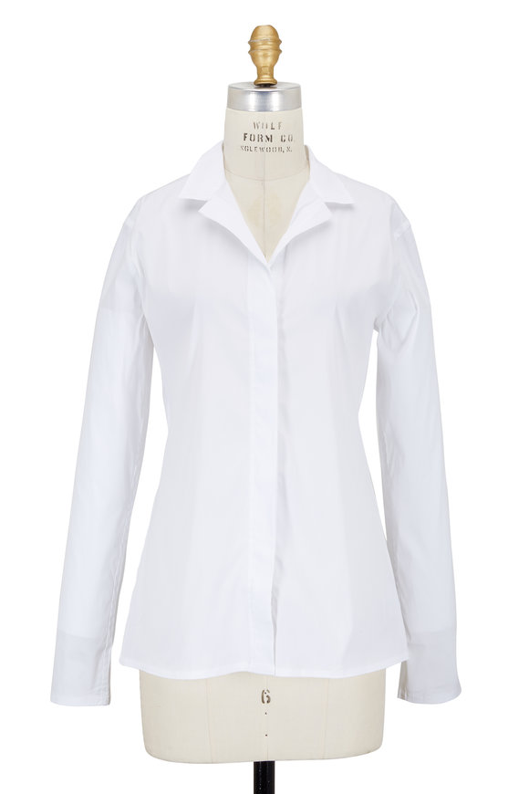 Lareida Catharina White Stretch Poplin Blouse