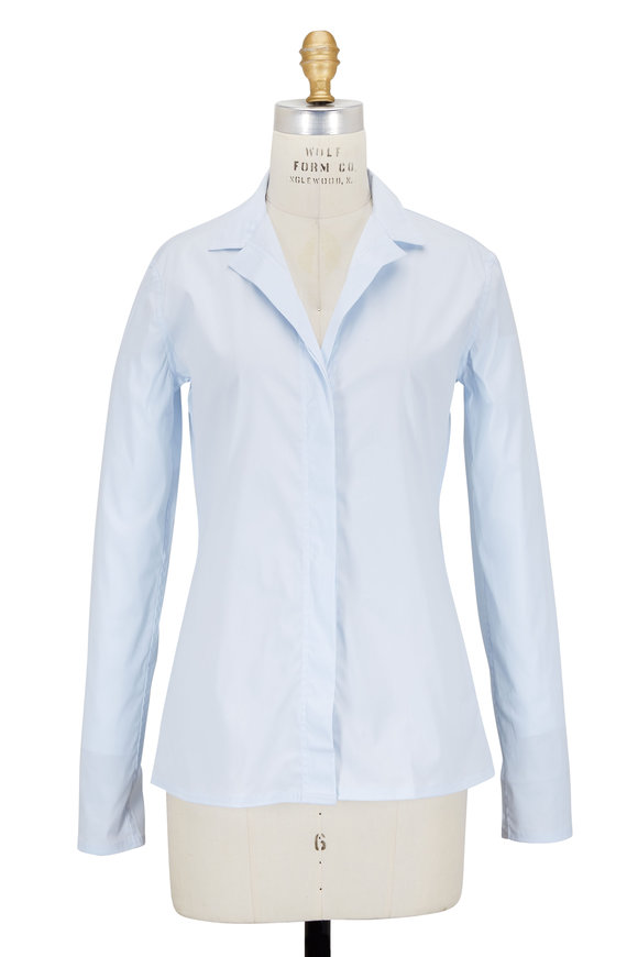 Lareida Catharina Light Blue Stretch Poplin Blouse