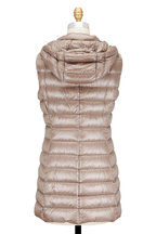 Herno - Taupe Hooded Fitted Puffer Vest