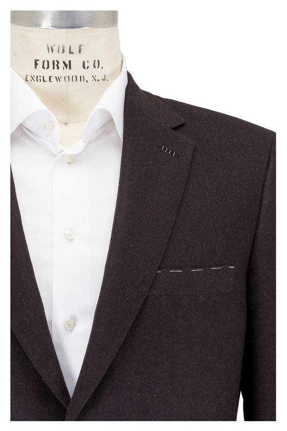 Brioni Chocolate Double-Faced Cashmere & Silk Sportcoat