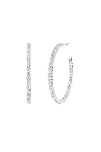 Kwiat - 18K White Gold & Brilliant-Cut Diamonds Hoops