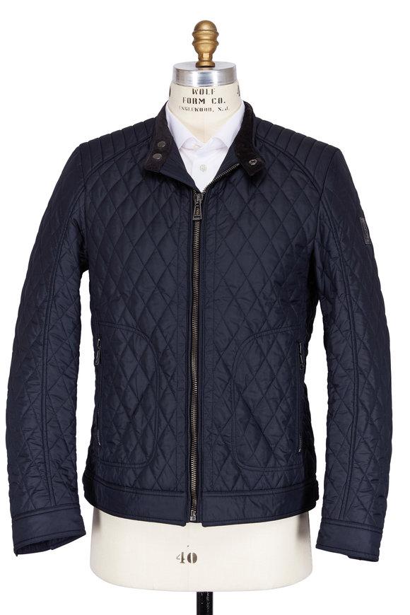 Belstaff Bramley Navy Blue Quilted Jacket