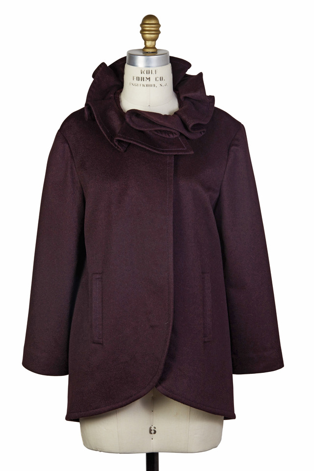 Aubergine Cashmere Jacket
