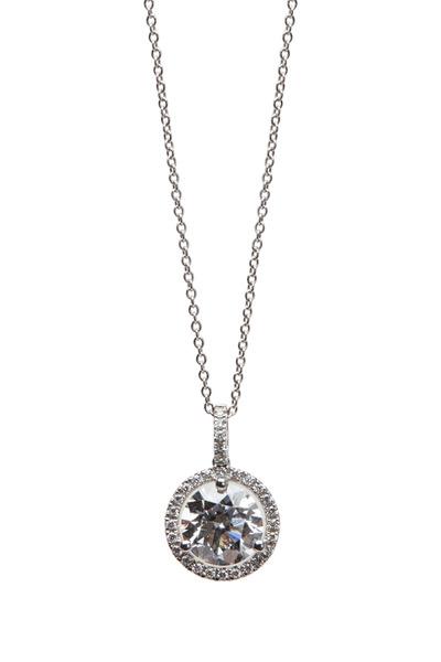 Louis Newman - White Gold Diamond Pendant