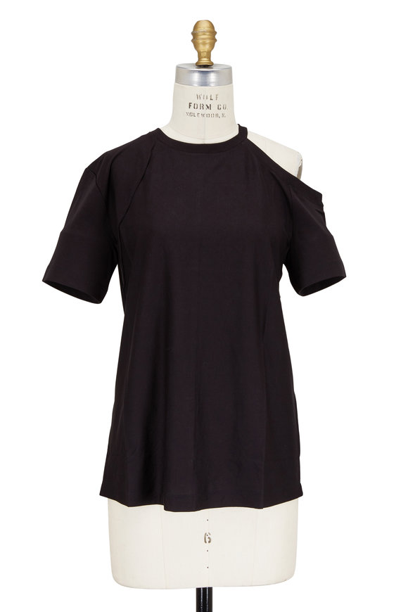 Helmut Lang Black Deconstructed Short Sleeve T-Shirt