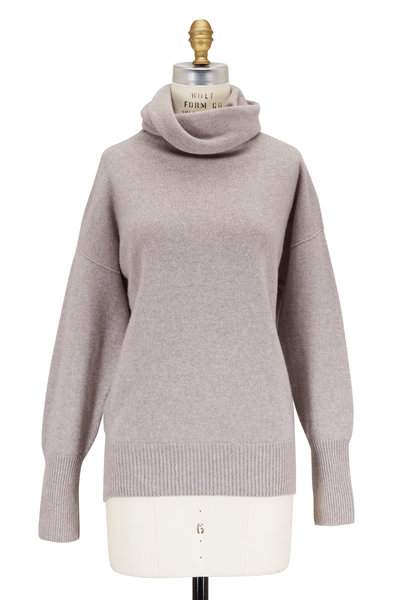 The Row - Cecil Mink Slouchy Cashmere Turtleneck