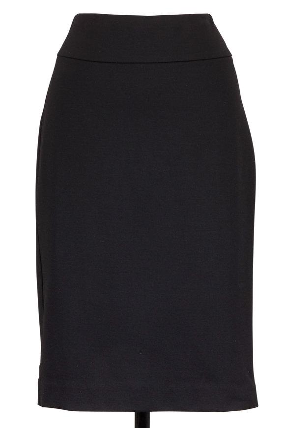 Donna Degnan Black Stretch Jersey Pencil Skirt