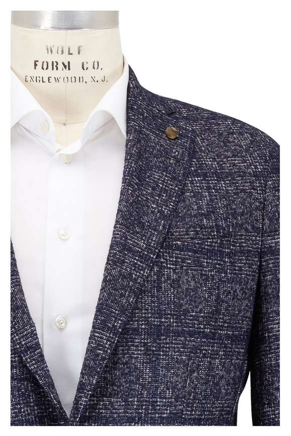 Peter Millar Barchetta Blue Alpaca & Wool Sportcoat