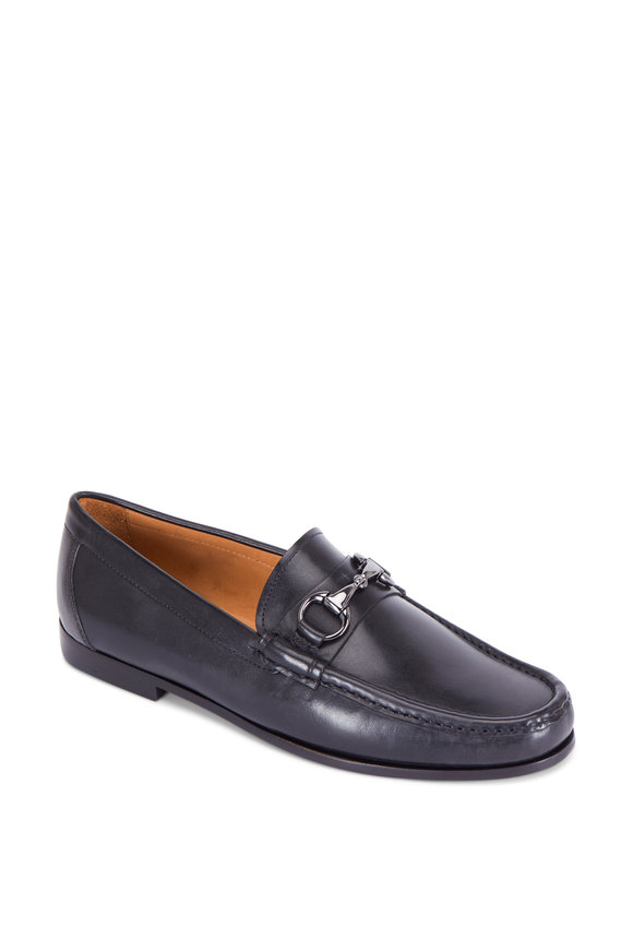 Peter Millar Black Leather Bit Loafer