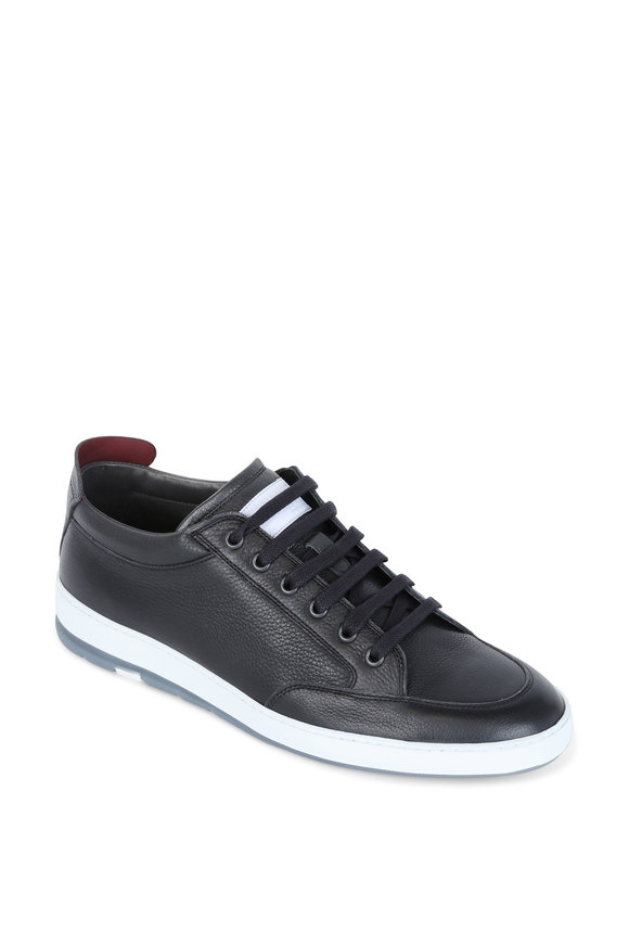 Heschung Travel Black Leather Street Sneaker