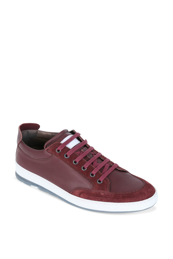 Heschung Travel Prune Suede & Leather Street Sneaker