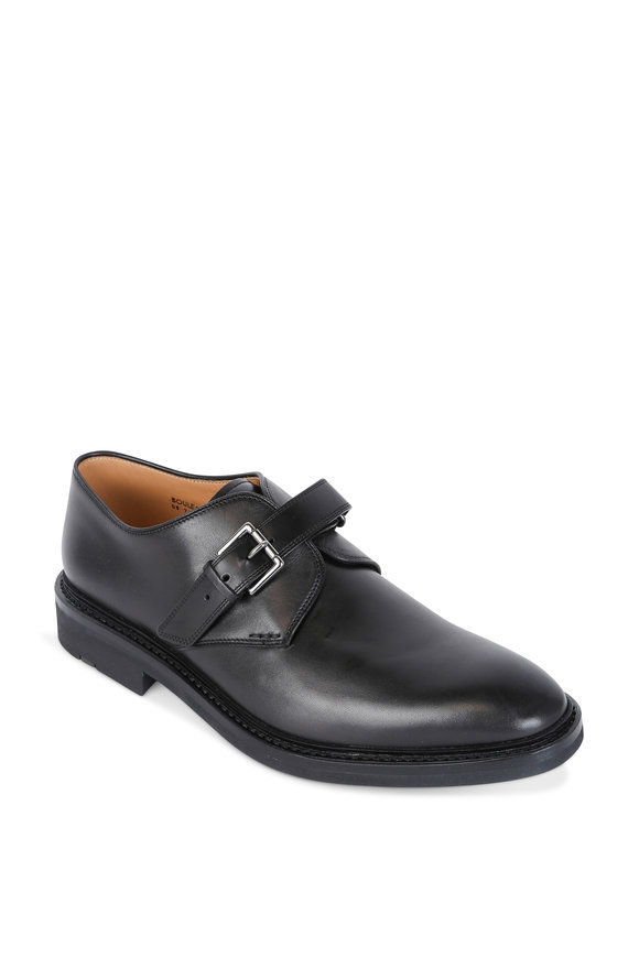Heschung Bouleau Black Leather Monk Shoe