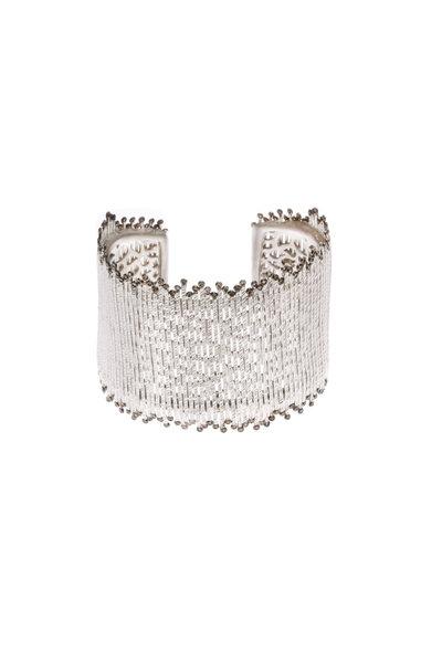Coomi - Sterling Silver Diamond Stick Cuff Bracelet