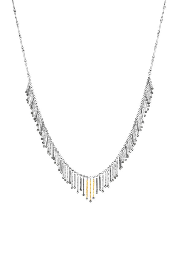 Coomi 20K Gold & Silver Spring Necklace