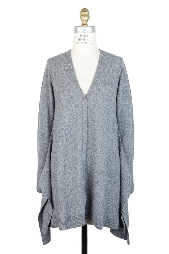 Akris Punto Stone Wool & Cashmere Cardigan