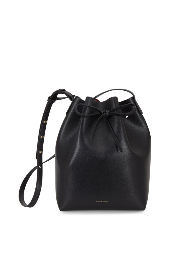 Mansur Gavriel Black Leather Large Bucket Bag