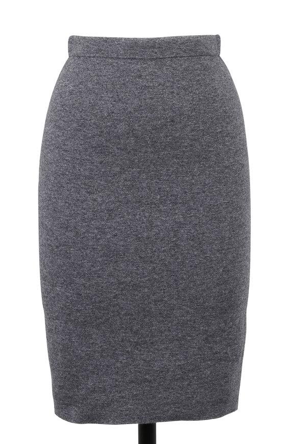 D.Exterior Gray Cashmere Reversible Pencil Skirt