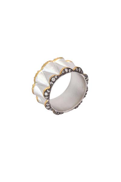 Coomi - 20K Gold & Silver Diamond Vitality Cone Ring