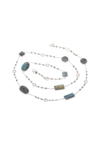 Coomi - Multicolor Carved Labradorite Necklace