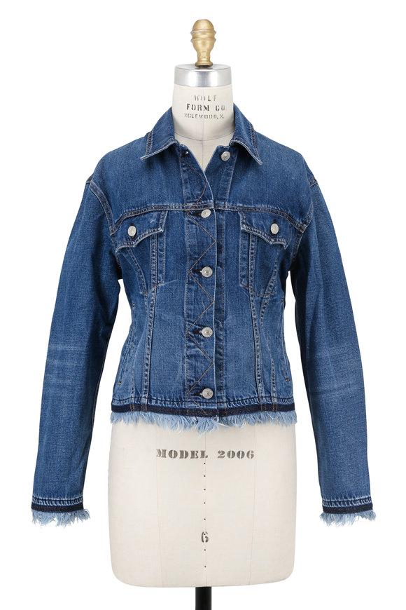 Rag & Bone Fringed Oversized Denim Jacket