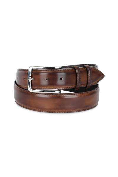 Bontoni - Chocolate Brown Leather Belt
