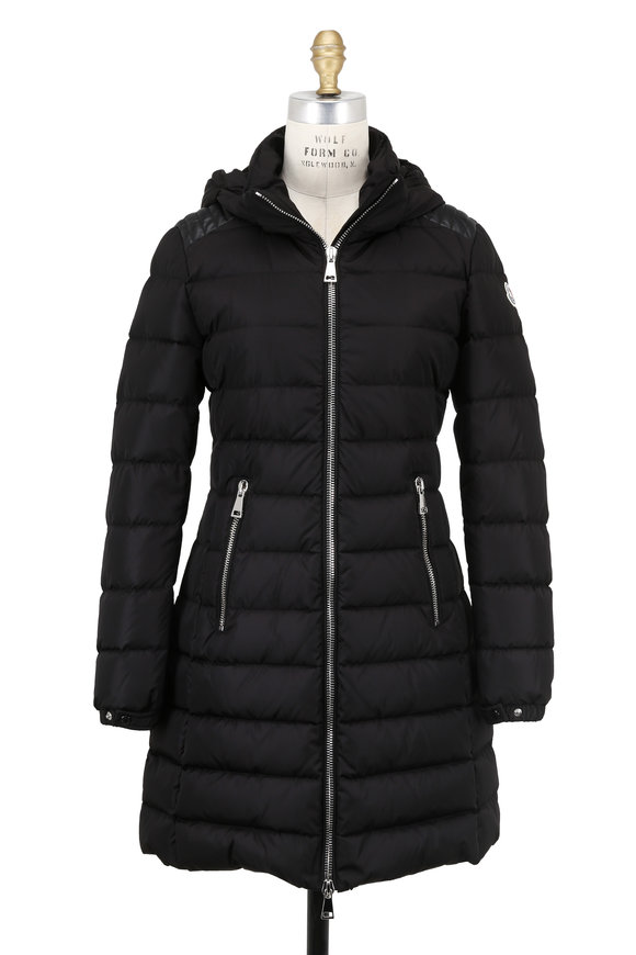 Moncler Orophin Black Quilted Hooded Parka