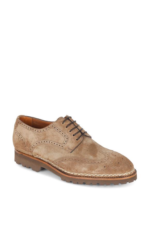 Bontoni Libertino Light Brown Wingtip Derby Shoe