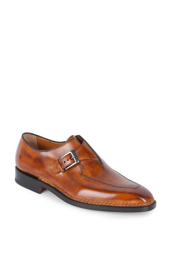 Bontoni Brillantina Cognac Single Monk Strap Shoe