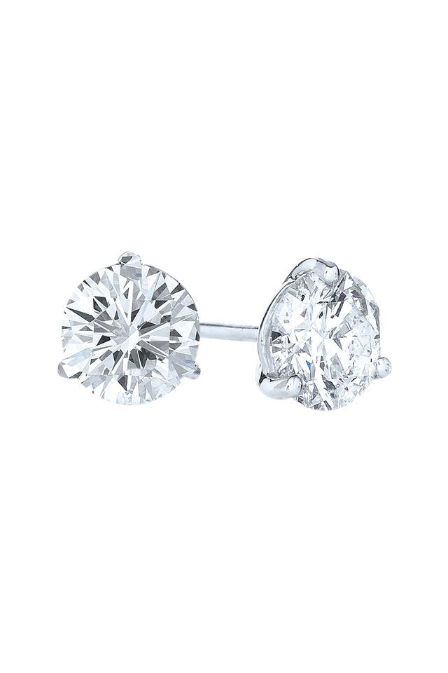Platinum Brilliant Diamond Stud Earrings