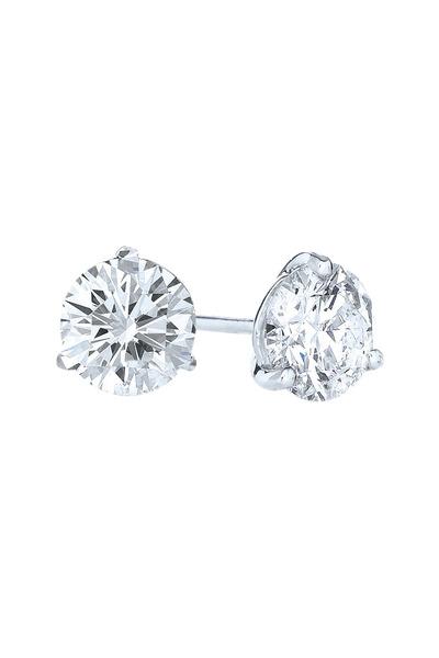 Kwiat - Platinum Brilliant Diamond Stud Earrings