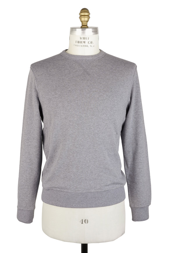 Brunello Cucinelli Gray Cotton Crewneck Sweatshirt