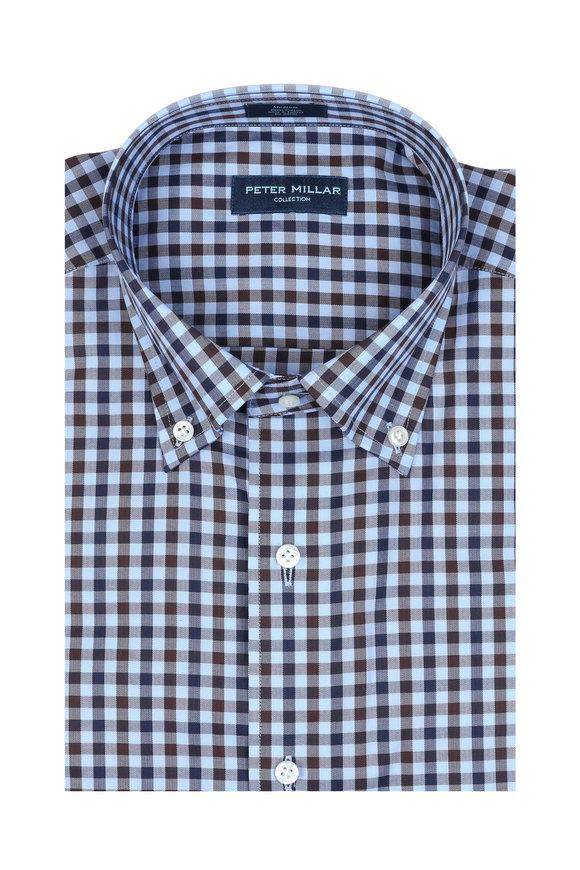 Peter Millar Jasper Blue Check Sport Shirt