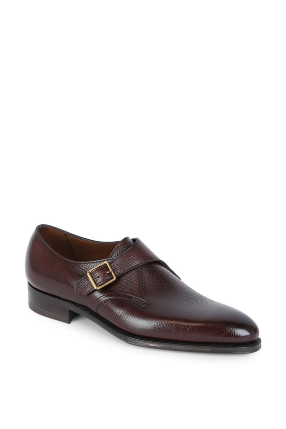 Gaziano & Girling Carnegie Oak Leather Single Monk Strap Dress Shoe