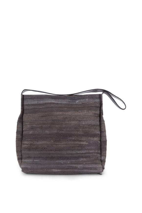B May Bags Anthracite Eel Small Hobo Bag