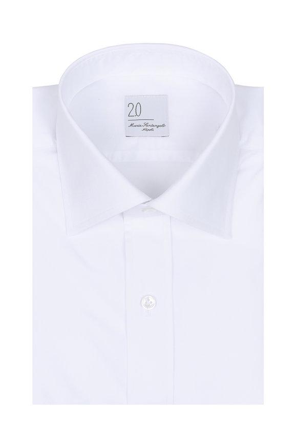 Maria Santangelo Solid White Dress Shirt