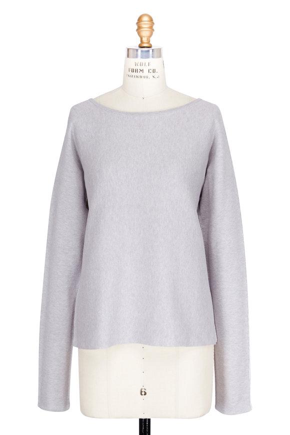 A T M Chalk Crewneck Knit Sweater