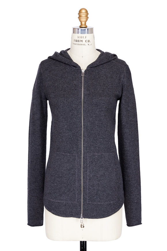 A T M Flannel Grey Cashmere Hoodie