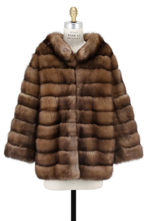 Oscar de la Renta Furs Natural Golden Sable Jacket