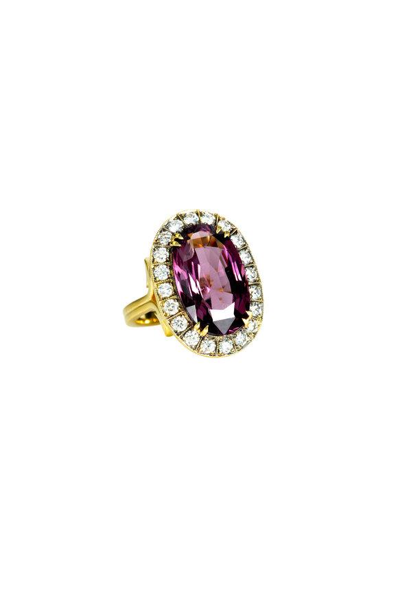 Sylva & Cie 18K Yellow Gold Spinel & Diamond Ring