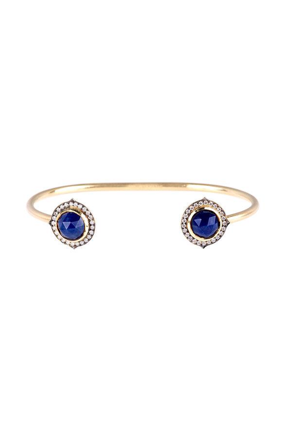 Sylva & Cie 18K Yellow Gold Sapphire & Diamond Bracelet