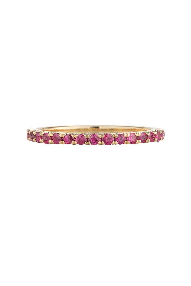 Yellow Gold Stack Ruby Ring