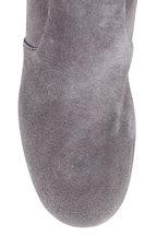 Prada - Gray Stretch Suede Tall Boot, 55mm