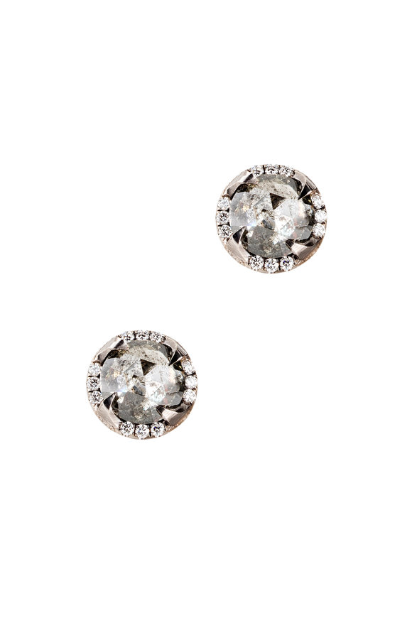 Sylva & Cie Gray Diamond Studs